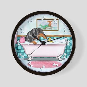 Dapple Dachshund Wall Clock