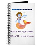 Goldie the mermaid. Shell cut you. Journal