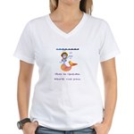 Goldie the mermaid. Shell cut you. Women's V-Neck