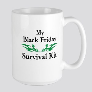 Black Friday Survival Kits Large Mug
