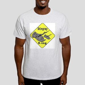 Singray Crossing Ash Grey T-Shirt