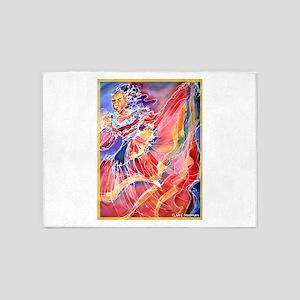 Fiesta! Colorful, Dancer! 5'x7'Area Rug