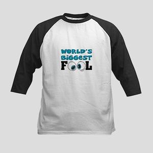 World's Biggest Fool Kids Baseball Jersey
