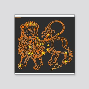 Leo Astrological Star Chart Square Sticker 3