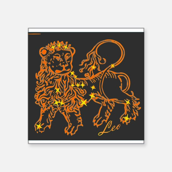 "Leo Astrological Star Chart Square Sticker 3"" x 3"""