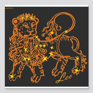 Leo Astrological Star Chart Square Car Magnet 3 X