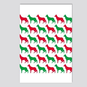 German Shepherd Christmas or Holiday Silhouettes P