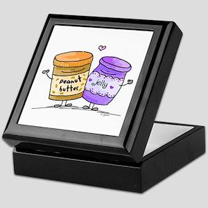 pb loves grape jelly Keepsake Box