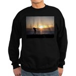 Playing Golf At Sunset Sweatshirt (dark)