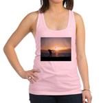 Playing Golf At Sunset Racerback Tank Top