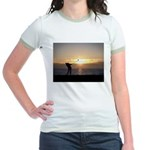 Playing Golf At Sunset Jr. Ringer T-Shirt