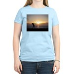 Playing Golf At Sunset Women's Light T-Shirt