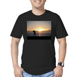 Playing Golf At Sunset Men's Fitted T-Shirt (dark)