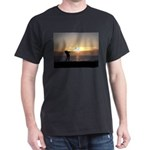 Playing Golf At Sunset Dark T-Shirt