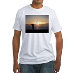 Playing Golf At Sunset Fitted T-Shirt