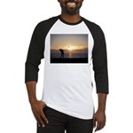 Playing Golf At Sunset Baseball Jersey