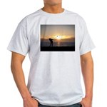 Playing Golf At Sunset Light T-Shirt