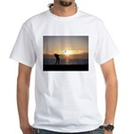 Playing Golf At Sunset White T-Shirt