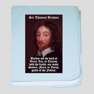 Burden Not The Back - Thomas Browne baby blanket