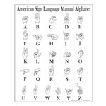 Sign Language Alphabet Small Poster