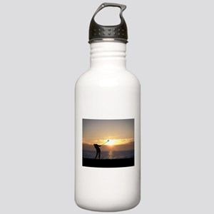 Playing Golf At Sunset Stainless Water Bottle 1.0L