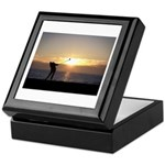 Playing Golf At Sunset Keepsake Box