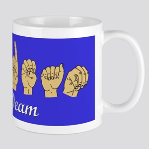 Mrs. Deam with name in script and ASL Mug