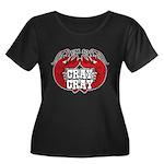 Cray Cray Women's Plus Size Scoop Neck Dark T-Shir