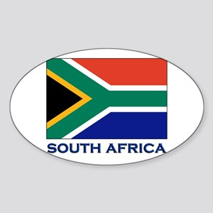 South Africa Flag Stuff Oval Sticker