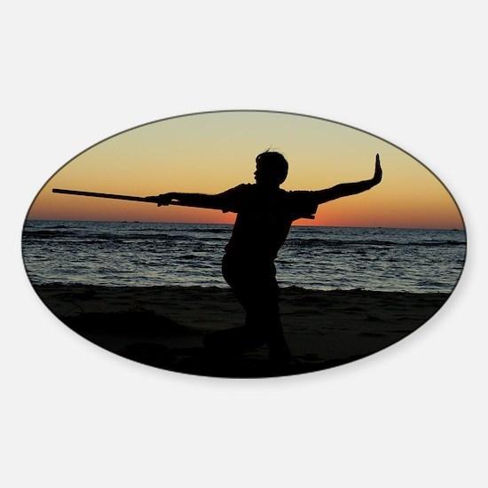 Sunset Bo Sticker (Oval)