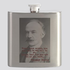 Woman Much Missed - Thomas Hardy Flask