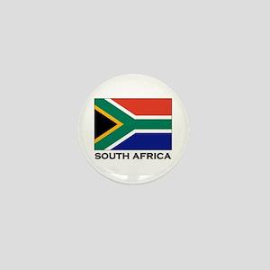 South Africa Flag Gear Mini Button