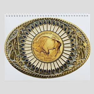 Buffalo gold oval 1 Wall Calendar