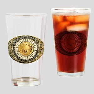 Buffalo gold oval 1 Drinking Glass
