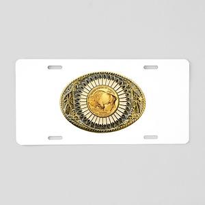 Buffalo gold oval 1 Aluminum License Plate