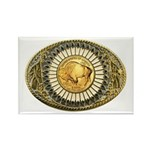 Buffalo gold oval 1 Rectangle Magnet (100 pack)