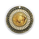 Buffalo gold oval 1 Ornament (Round)