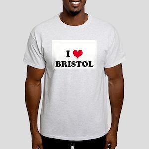 I HEART BRISTOL  Ash Grey T-Shirt