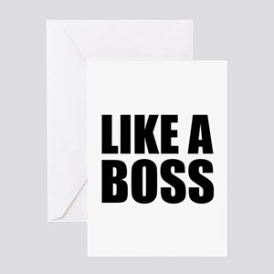 Like a boss greeting cards cafepress like a boss greeting card m4hsunfo