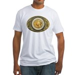 Buffalo gold oval 1 Fitted T-Shirt