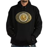 Buffalo gold oval 1 Hoodie (dark)