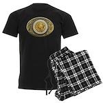 Buffalo gold oval 1 Men's Dark Pajamas