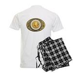 Buffalo gold oval 1 Men's Light Pajamas