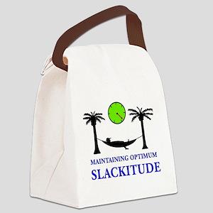Slackitude Canvas Lunch Bag
