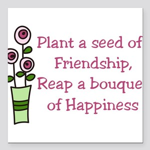 "Plant A Seed Square Car Magnet 3"" x 3"""