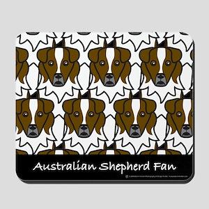 Australian Shepherd Fan Mousepad