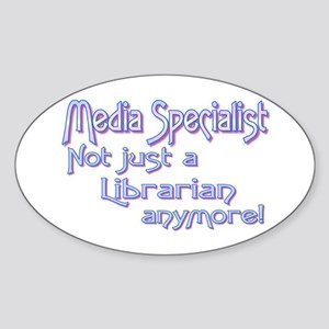 Media Specialist/Librarian Oval Sticker