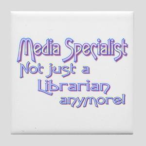 Media Specialist/Librarian Tile Coaster