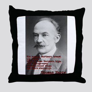 His Homely Northern Breast - Thomas Hardy Throw Pi