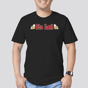 Sto Lat! With Beer Mugs Men's Fitted T-Shirt (dark